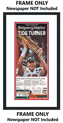 Advertiser Newspaper Daily (Alabama Crimson Tide Newspaper Frame - with Alabama Colors Double Mat -)