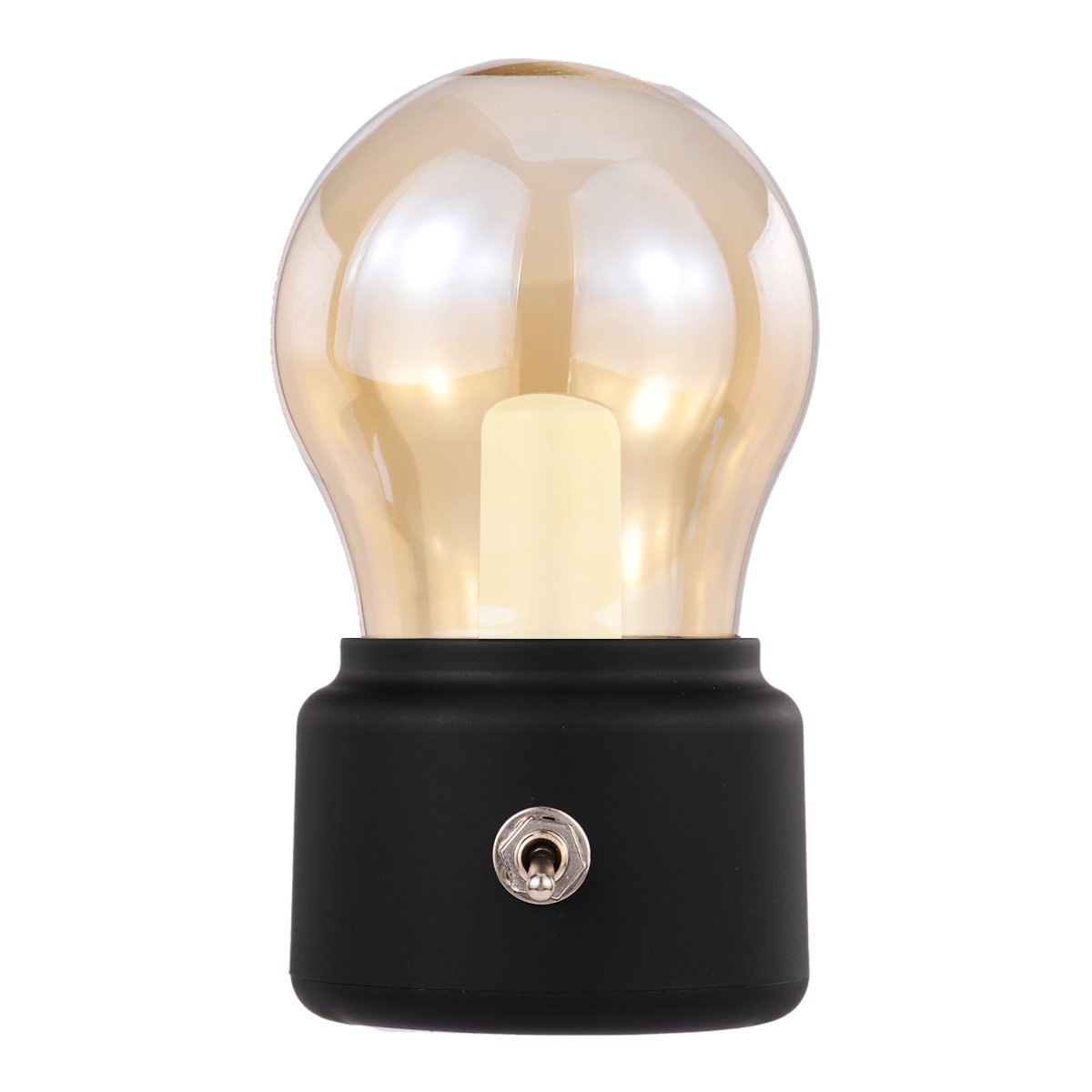 Rechargeable LED Night Light, Black, Retro Style, Bubl Lamps for Bedrooms, Baby, Candlelight Dinner, Camping, Party, Emergency Lighting, 500mAh Battery Inside LED Night Light for Coffee Shop, Mini Bar