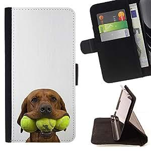 Momo Phone Case / Flip Funda de Cuero Case Cover - Tenis Golden Retriever perro de mascota; - Samsung Galaxy A5 ( A5000 ) 2014 Version