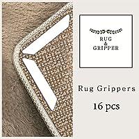 Rug & Gripper Best 16 pcs Non Slip. Anti Curling Non Skid Technology. Ideal Anti Slip.