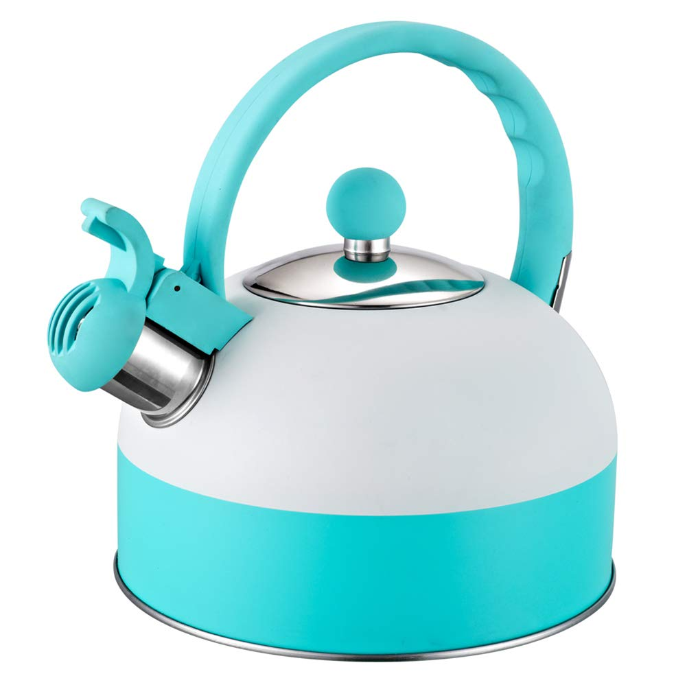 Double Color Stainless Steel Whistle Tea Kettle Water Bottle Household Smart Boiling Kettle Whistling Kettle for Gas Stove