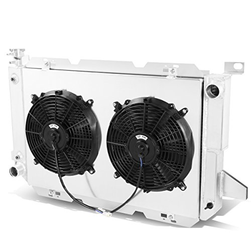 For Ford F150 / F250 / Superduty 3-Row Tri-Core Aluminum Radiator + 12V Fan Shroud