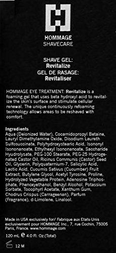HOMMAGE Revitalize Shave Gel, 4 fl. oz.