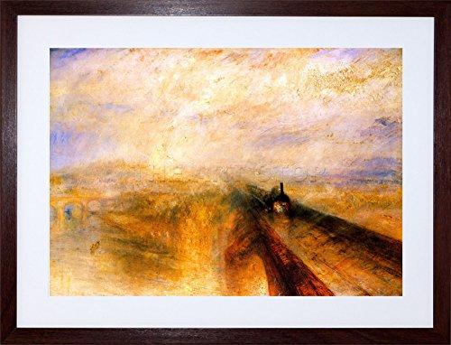 9x7 '' Turner RAIN STEAM Speed Great Western Railway Framed Art Print F97X447