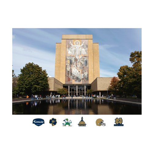 NCAA Notre Dame Fighting Irish ''Touchdown Jesus'' Stadium Mural Wall Graphic by FATHEAD