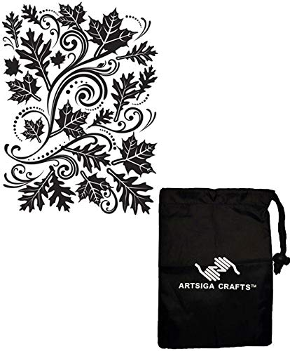 - Darice DIY Crafts Supplies Embossing Folders for Card Making Fall Leaf 4.5 x 5.75 1218-33 Bundle with 1 Artsiga Crafts Small Bag
