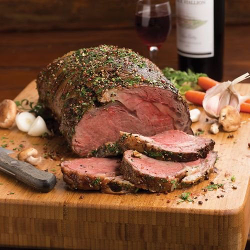 Omaha Steaks 1 (4 lbs.) Boneless Heart of Prime Rib (Boneless Prime Rib)