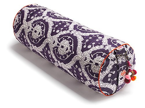 Chattra Plum Bagh Round Yoga Bolster
