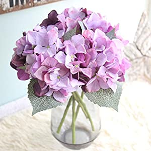 YJYdada Artificial Silk Fake Flowers Hydrangea Floral Wedding Bouquet Party Decor (I) 42