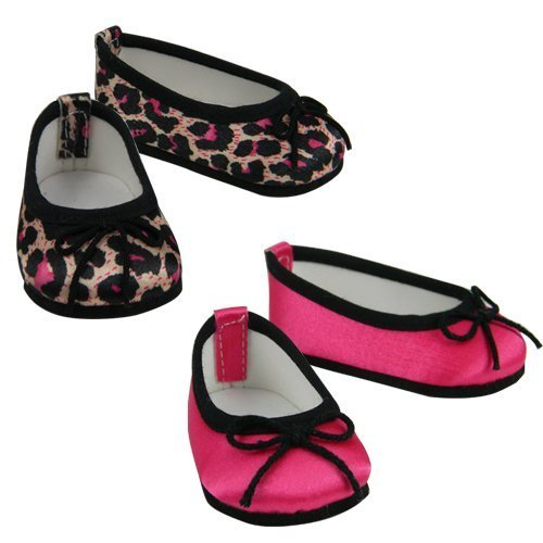 Pink Matte Flats for American Girl Dolls 18 Inch Doll Shoes