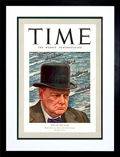 9x7 '' MAGAZINE 1941 WINSTON CHURCHILL MAN YEAR TIME FRAMED ART PRINT - Churchill Glasses Winston