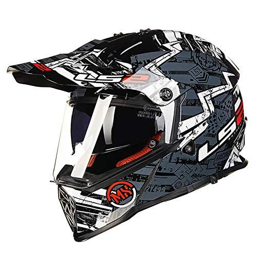 Sunzy Youth Motocross Helmet, Mountain Bike Helmet Road Four Seasons Cruise Helmet Street Scooter City Riding Full face Helmet DOT Approved,J,XL