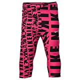 Girls' Nike Club Allover Print Capris (6 LITTLE KIDS, DK HYPER PINK)