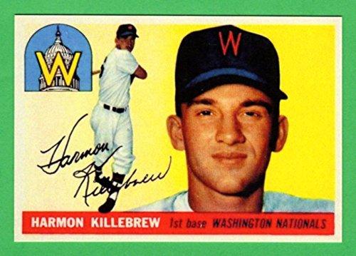 Harmon Killebrew 1955 Topps Baseball Rookie Reprint Card (Senators) (Twins)