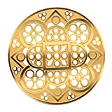 Lausanne Cathedral Rose Window Ornament, Black and Gold Colored