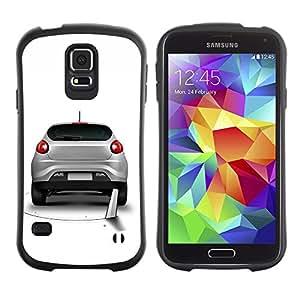 Suave TPU Caso Carcasa de Caucho Funda para Samsung Galaxy S5 SM-G900 / Funny Saw Car Prank Hole / STRONG