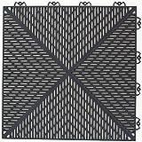 """Mats Inc. Bergo Unique Floor Tiles, 14.9"""" x"""
