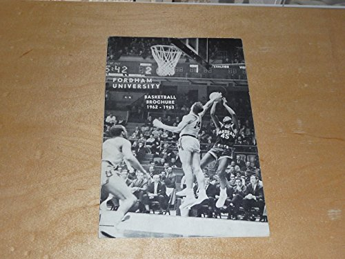 1962 1963 FORDHAM COLLEGE BASKETBALL MEDIA GUIDE EX-MINT