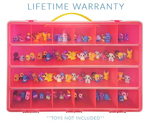 Squinkies Case, Toy Storage Carrying Box. Figures Playset Organizer. Accessories For Kids by LMB
