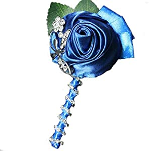 WeddingBobDIY Boutonniere Buttonholes Groom Groomsman Best Man Silk Rose Wedding Flowers Brooch Pin Accessories Prom Suit Decoration 119