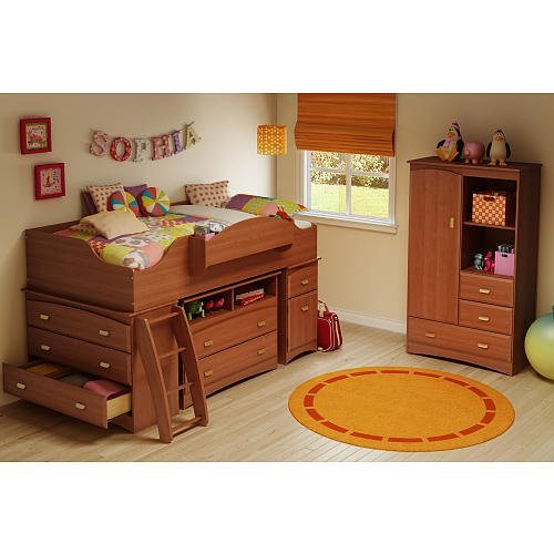 South Shore Imagine 3Piece Loft Bed Set Cherry