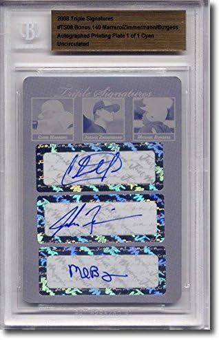 Chris Marrero * JORDAN ZIMMERMANN * Michael Burgess Autograph Auto Plate BGS 1/1 51MyZAhVwQL