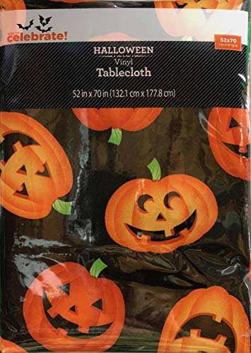 Vinyl Tablecloth 52x70 Halloween Mass Jacks Theme