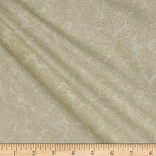 Henry Glass Rodeo Round Up Embossed Leather Scroll Cream Fabric by The Yard,