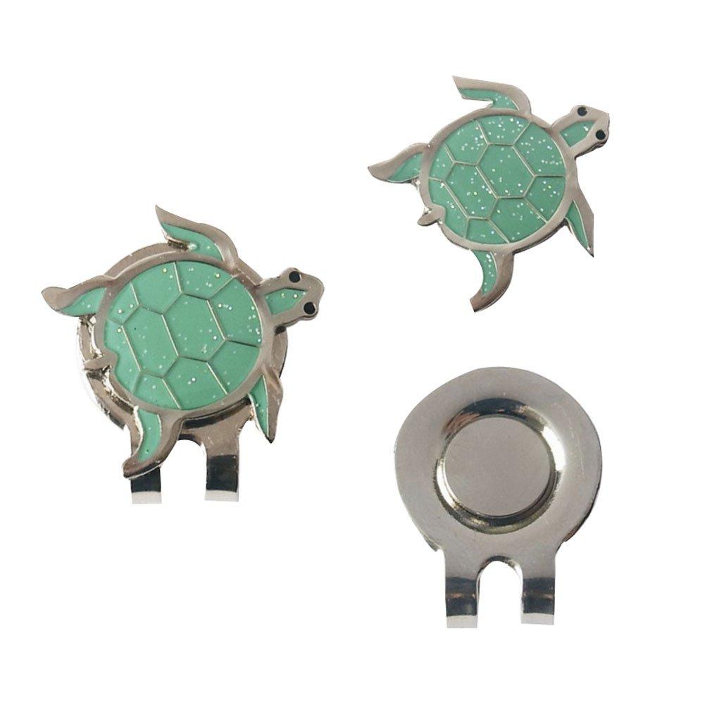 East Majik Cute Little Turtle Animal Pattern Mark Ball Standard Golf Cap Clip