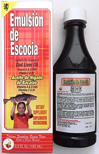 Emulsion De Escocia Strawberry/banana 6.5 Oz. Cod Liver Oil
