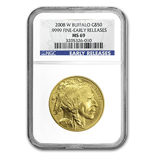 2008 W 1 oz Gold Buffalo MS-69 NGC (Early Releases) 1 OZ MS-69 NGC