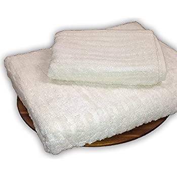 Murphy Bamboo 56-Inch-by-30-Inch Heavy Plush Bamboo Ribbed Bath Towel, Natural