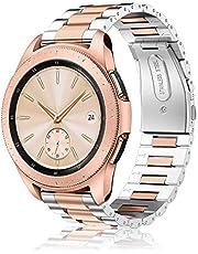 Fintie Metalen Schakel Bandje Voor Samsung Galaxy Watch 42mm/Active 2/Activer/Gear Sport/Gear S2 Classic Smartwatch, Premium Schakel Polsband Strap RVS Armband Band,