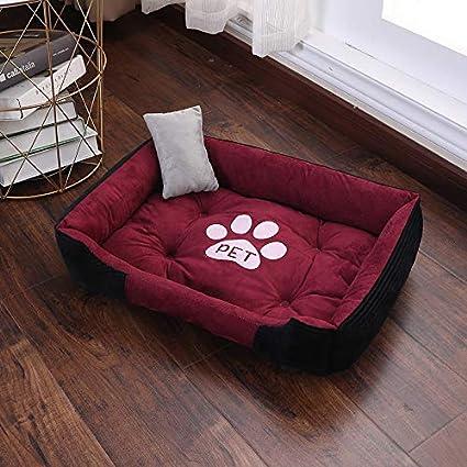 YSDTLX(Cama para perro) Perrera De Invierno Cálida Pequeña Cama para Perros Grande Cuatro