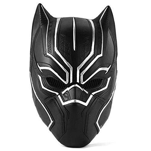 Trippy Lights New Black Panther Movie Latex Halloween Costume Overhead Mask Helmet]()