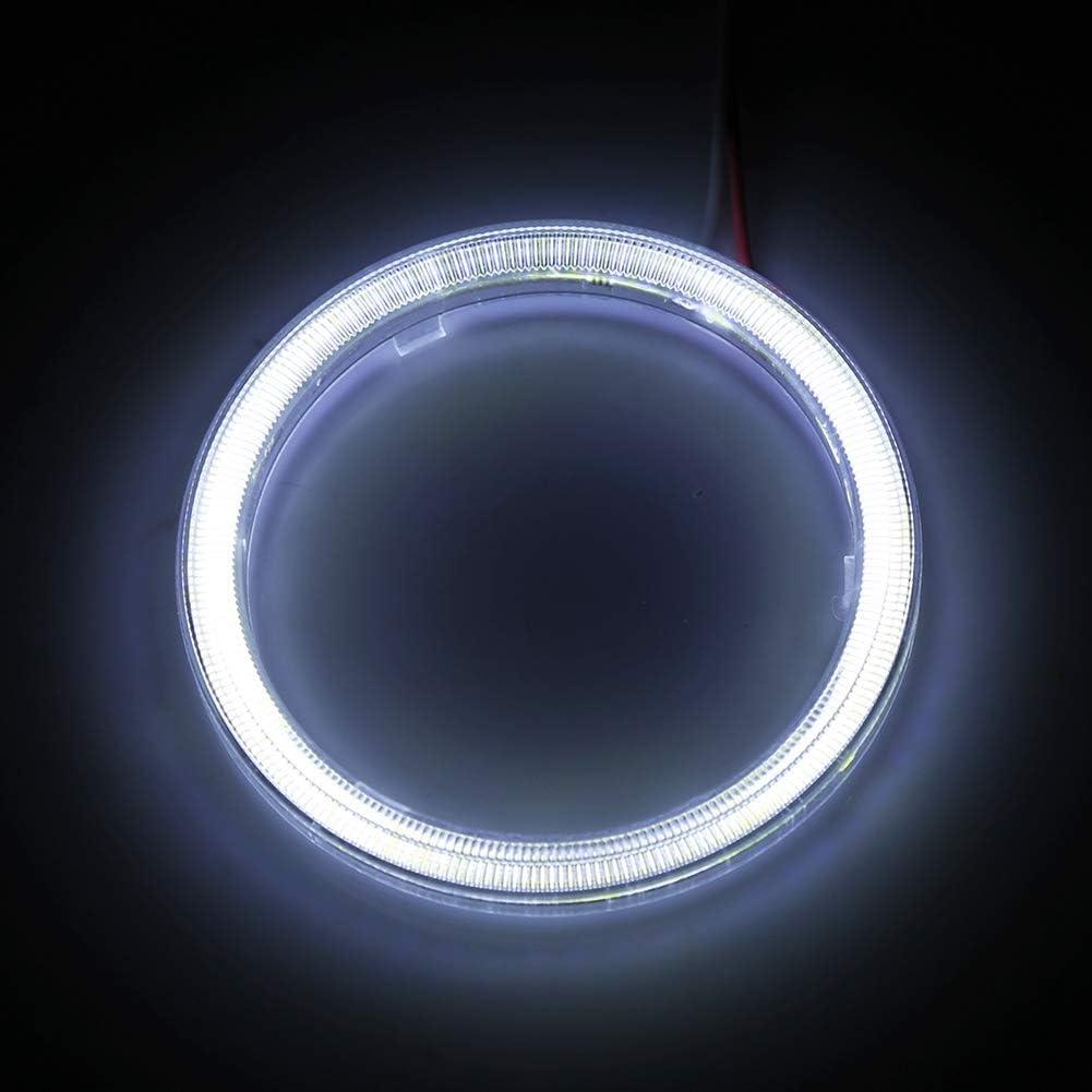 Fydun COB Angel Eyes Headlight 1 Pair Auto Halo Rings Angel Eye COB Chips Headlight DRL LED 12V for Motorcycle Car 90mm
