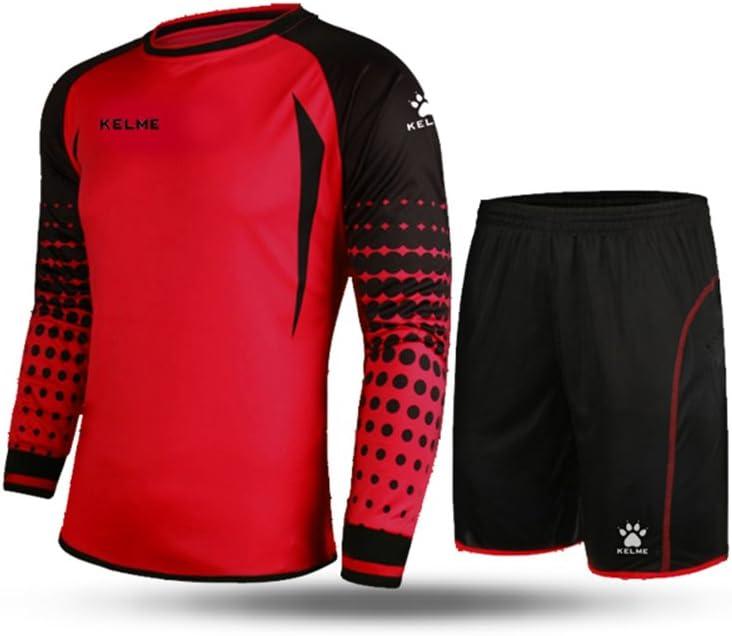 Conjunto para portero de fútbol, de la marca Kelme, de manga larga, color rojo/negro, tamaño XX-Large: Amazon.es: Deportes y aire libre