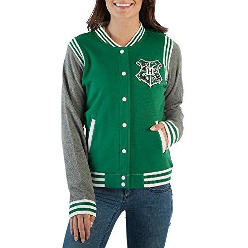Harry Potter Slytherin Girls Varsity Jacket (XS) -