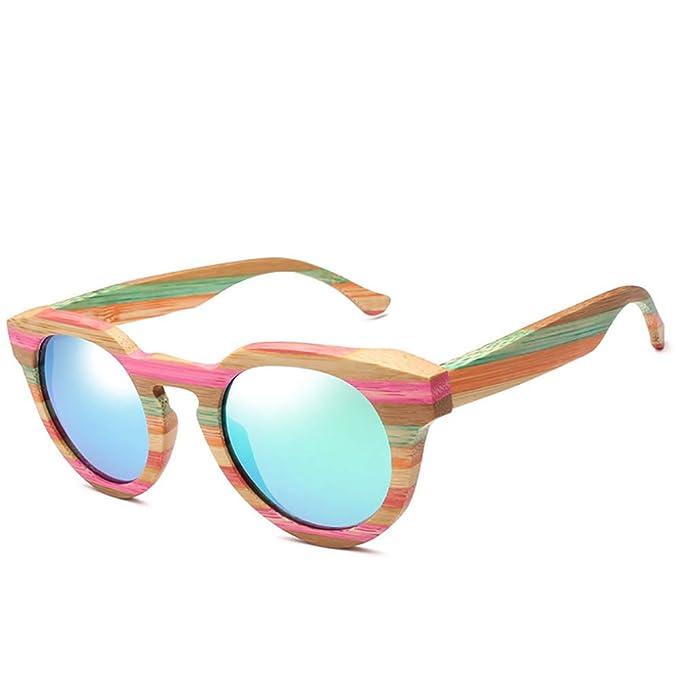d2e8d599f1f9 AZB Handmade Men Bamboo Wood Polarized Sunglasses Wood Frame Cat Eye Glasses  (Blue)