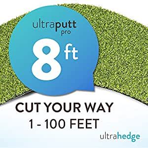 "UltraHedge New 8' Roll Wholesale Custom Cut 8Ft x 56Ft Artificial Grass for Golf Putts Sports Outdoor or Indoor Green Faux Fake Grass Decor | 448 SqFt | 0.7"" Tall Blades 