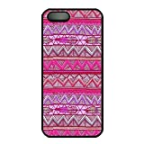 Rubber Back and DIY Case Cover For iPhone 5C Custom Soft TPU Single Shell Skin For iPhone 5C-Pink Chevron Tribal Pattern