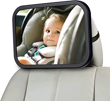 MONOJOY Baby Car Mirror for Back Seat, Baby Car Seat Mirror, Safety and  Wide Baby Rear View Mirror to See Rear Facing Infants,babies, Kids and Child:  Amazon.co.uk: Car & Motorbike