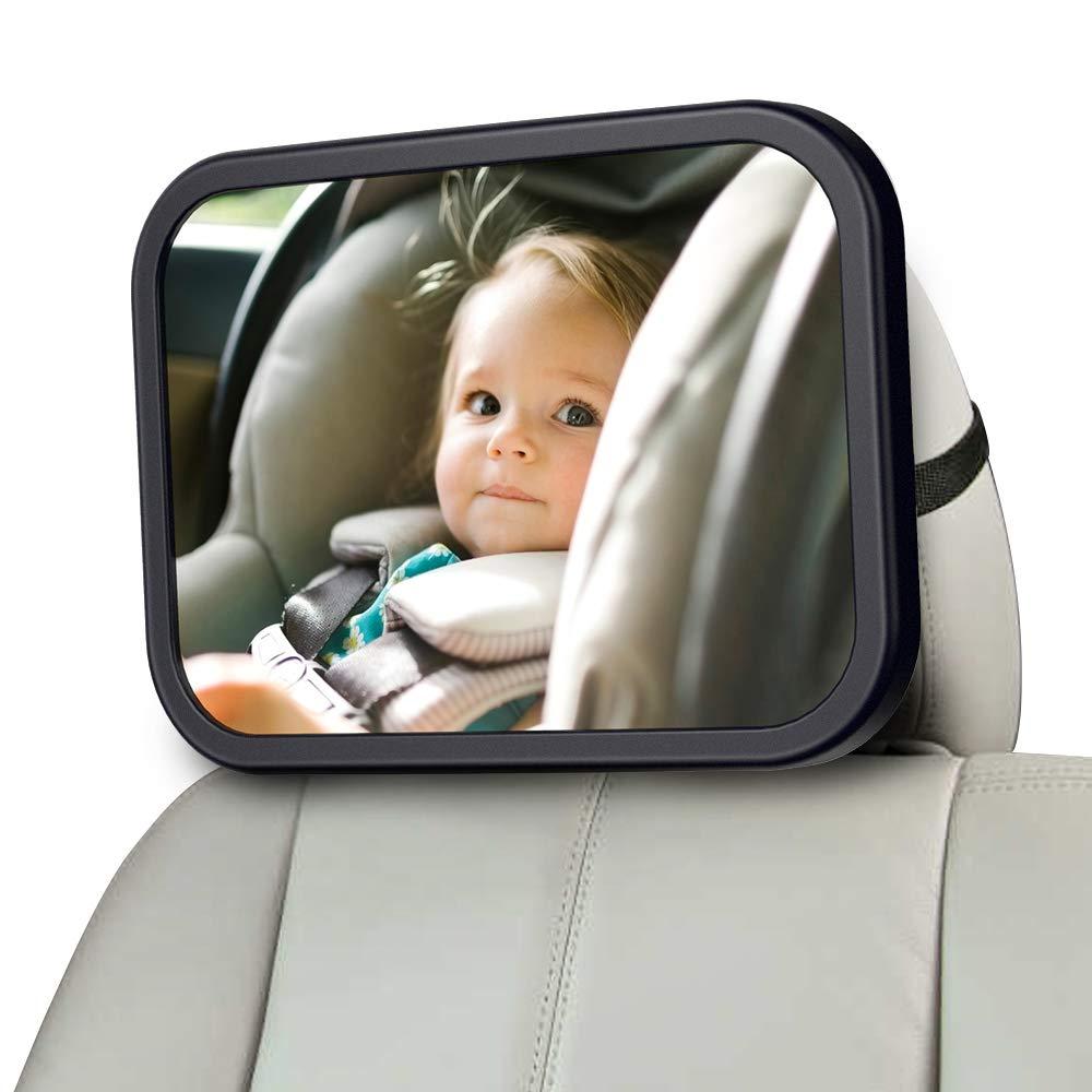 um nach hinten gerichtete f/ür Babyschalen Kinderschale Reboarder Kindersitz MONOJOY Baby Autospiegel f/ür r/ücksitz Babysitz R/ücksitzspiegel f/ürs Baby,Sicherheit und Wide Baby R/ückspiegel