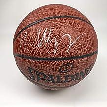 Autographed/Signed Andrew Wiggins Minnesota Timberwolves Spalding Basketball JSA COA Holo Only