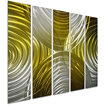 Amazon.com: Pure Art Movement in Squares - Small Modern Metal Wall ...