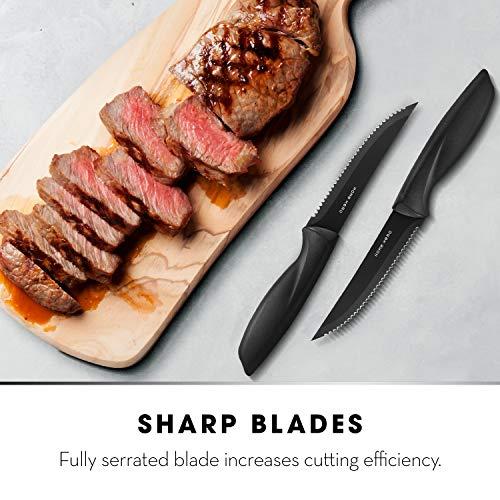 Steak Knives Set of 8 - Steak Knife Set - Serrated Steak Knives Dishwasher Safe Steak Knives - Steak Knifes Set of 8 - Stainless Steak Knives Serrated - Dinner Knives - 8 Piece Steak Knife Set