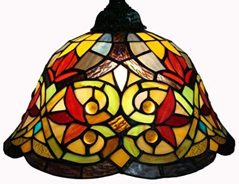 Fine Art Lighting Tiffany 330-Piece Glass Cuts on Floor Lamp, 12 by 18 by 60-Inch