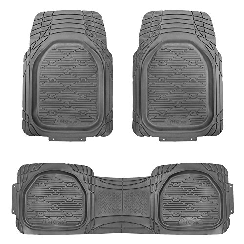 FH GROUP F11323 Supreme Trimmable Rubber Floor Mat- Fit Most Car, Truck, Suv, or Van by FH Group