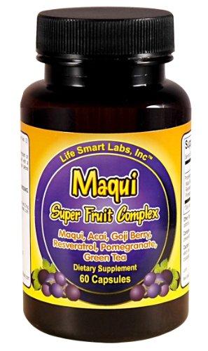 Complexe Maqui Super Fruit, baies Maqui antioxydants, le resvératrol, baie de Goji, grenade, açaï, Thé vert