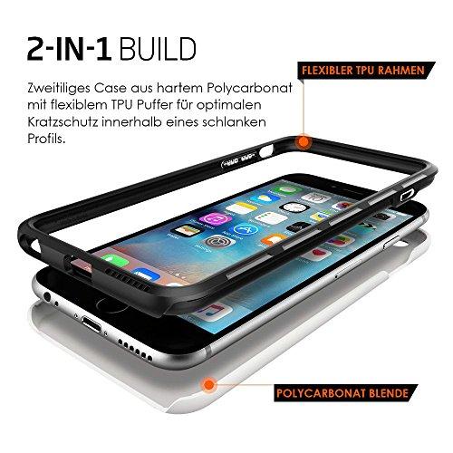 Spigen Coque + Char Verre Coque Apple iPhone 6Plus (Thin Fit Protection d'écran White + 1x Panzer Film en verre) [Spigen Protect Ultra]